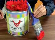 paint can centerpiece