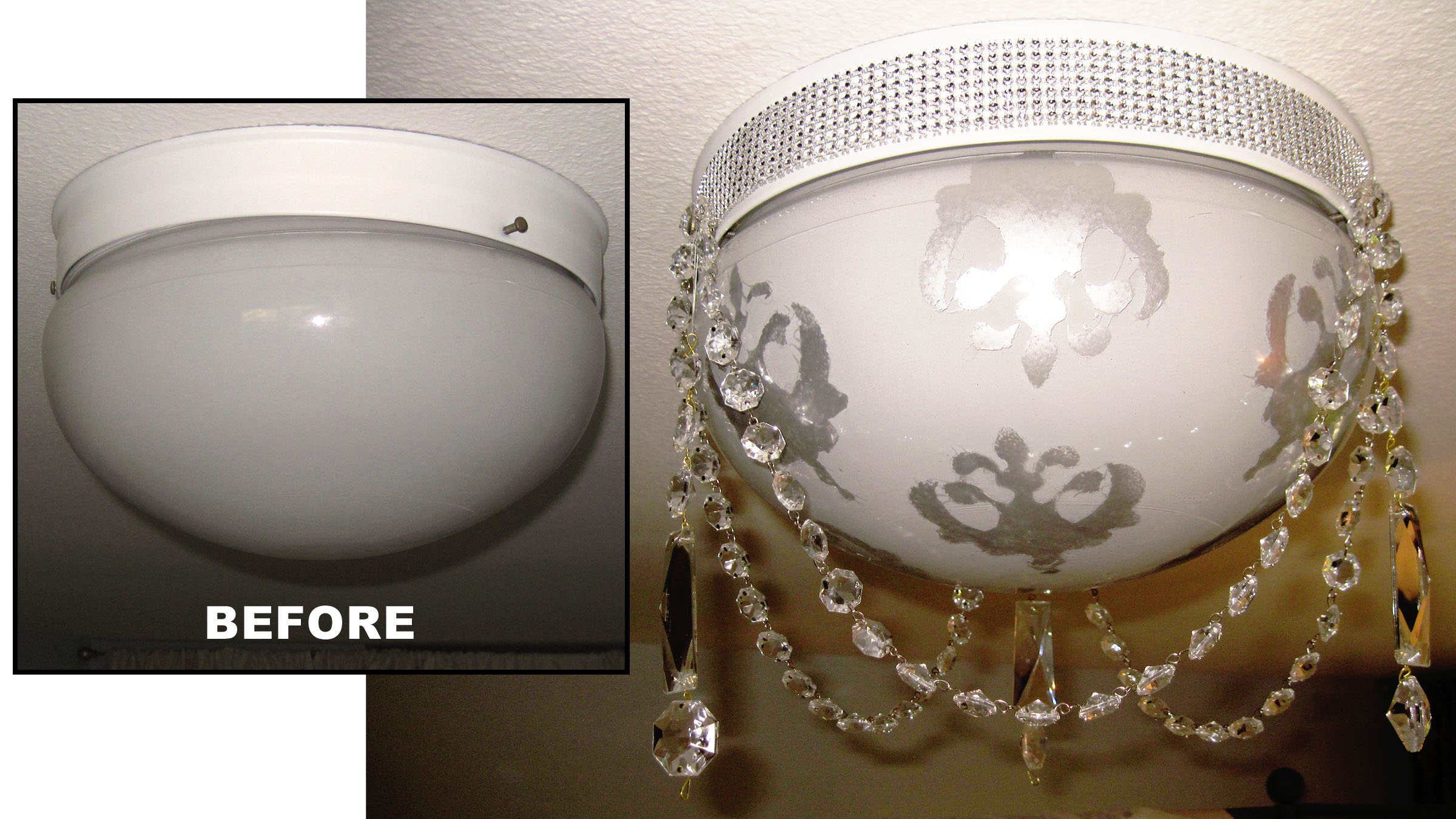 How to make over a ceiling light fixture style with a smile for How to make a light fixture