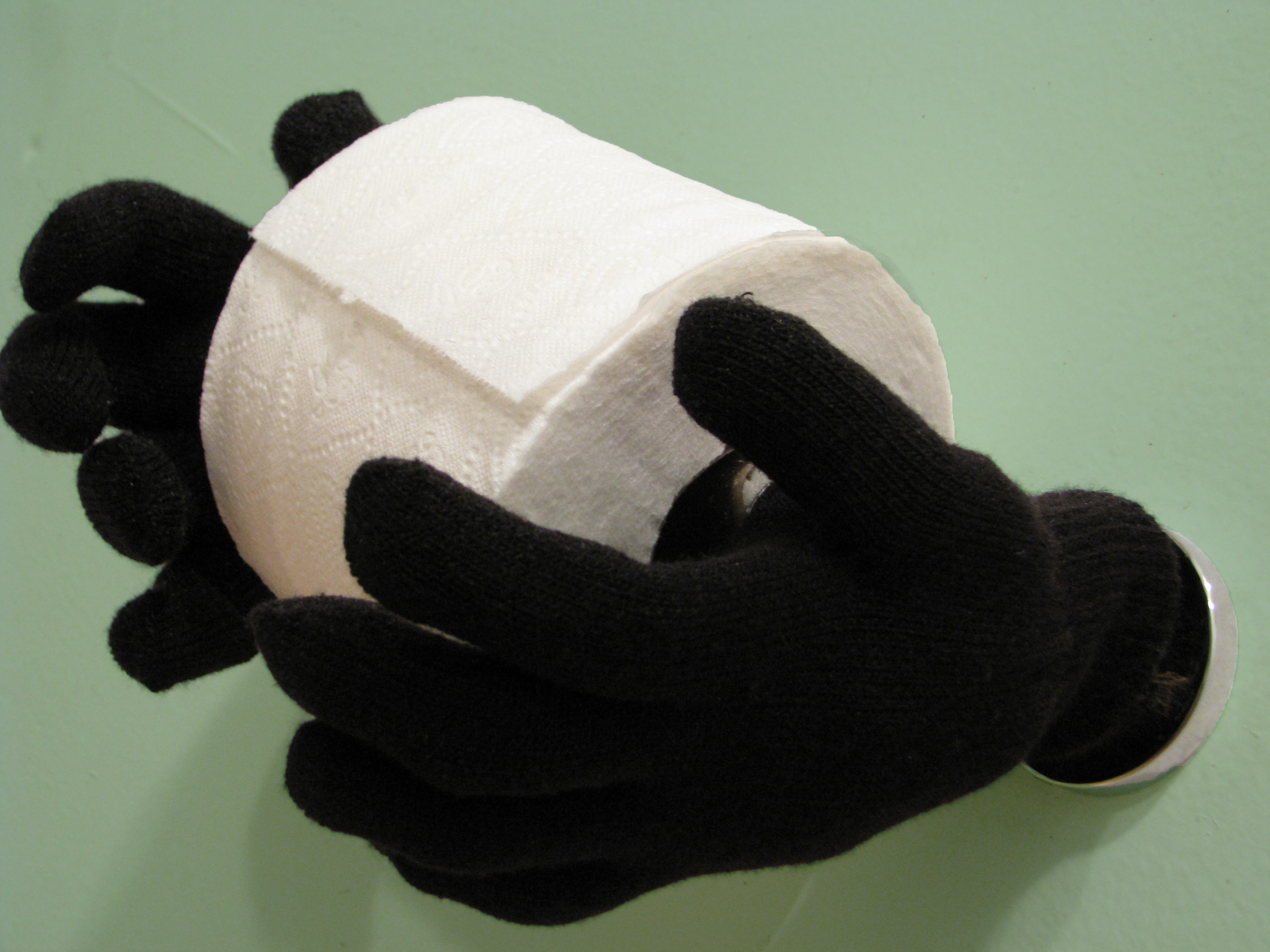 Magic Hands Toilet Paper Holder Style With A Smile